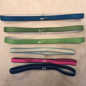Nike and Under Armour Headbands